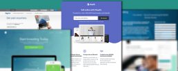 Landing page examples from different companies and brands